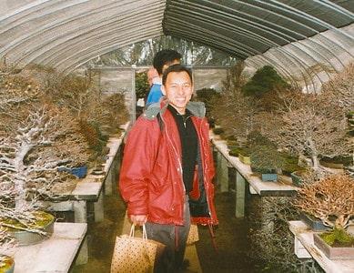 Boon at Takeyama's garden in Omiya